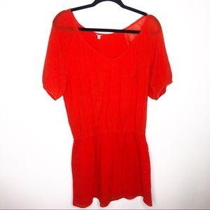 J. Crew Whisper Gauze Sieta Orange Dress